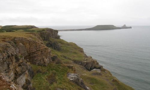 Zdjecie WALIA / Swansea. / Rhossili Bay. / Rhossili - Worm's Head.