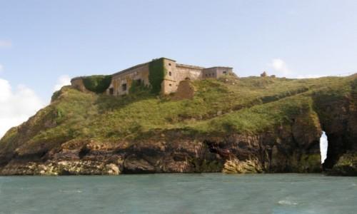 Zdjecie WALIA / Południowo-zachodnia Walia. / Tenby / Tenby - Wyspa św. Katarzyny i fort z 1876 r.