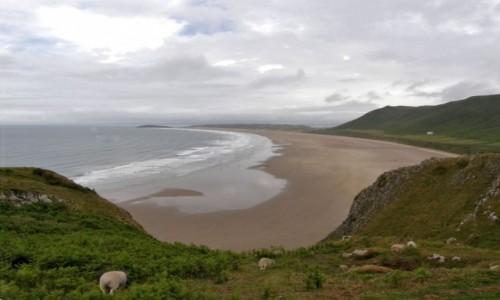 Zdjecie WALIA / Swansea. / Półwysep Gower - zachodnia część. / Rhossili Bay -