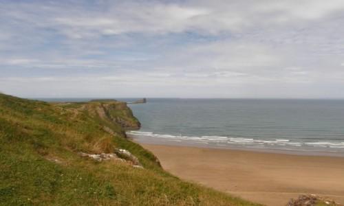 Zdjecie WALIA /  Południowo-zachodni kraniec Półwyspu Gower / Okolice Swansea. / Rhossili Bay - Walia.