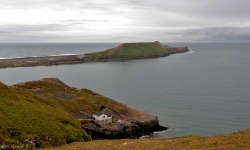 Zdjęcie WALIA / Swansea. / Rhossili Bay / Rhossili - Worm's Head.