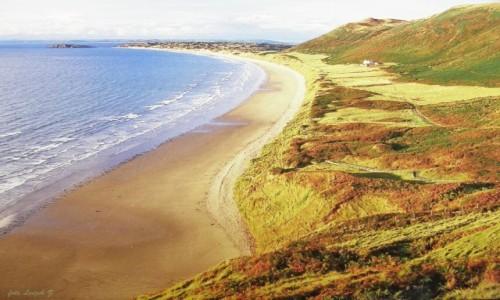 Zdjecie WALIA / Półwysep Gower. / Swansea. / Rhossili Bay - Najpiękniejsza plaża Walii.