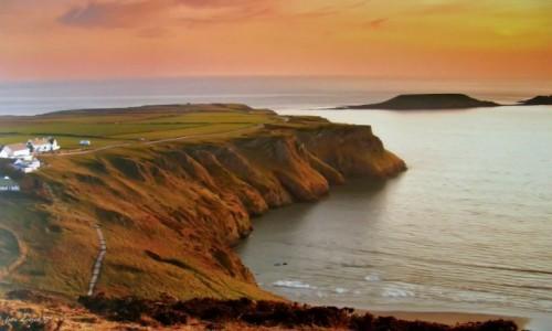Zdjecie WALIA / Swansea. / Rhossili Bay. / Walia - Plaża Rhossili.