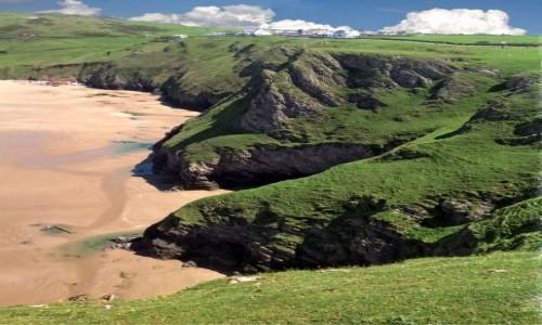 Zdjecie WALIA / Półwysep Gower. / Rhossili - Plaża / Rhossili Bay - klify.