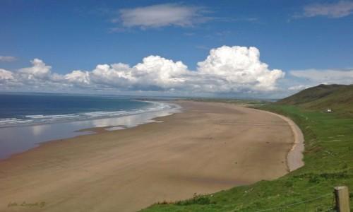 WALIA / Swansea. / Plaża w Swansea. / Mumbles - Najpiękniejsza plaża Walii.