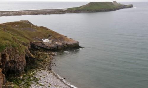 Zdjecie WALIA / Półwysep Gower. / Swansea. / Rhossili - Worm's Head. (Głowa Smoka).