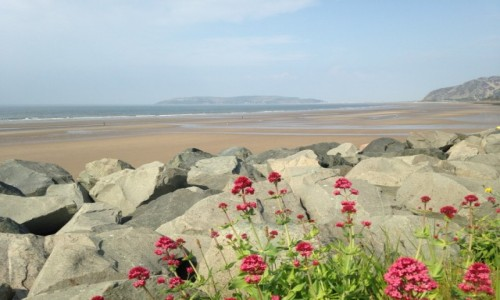 Zdjecie WALIA / hrabstwo Conwy / Północna Walia / Walijski poranek na plaży