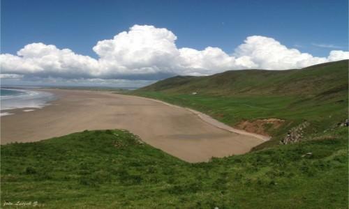 Zdjecie WALIA / Półwysep Gower. / Swansea. / Rhossili - Plaża.