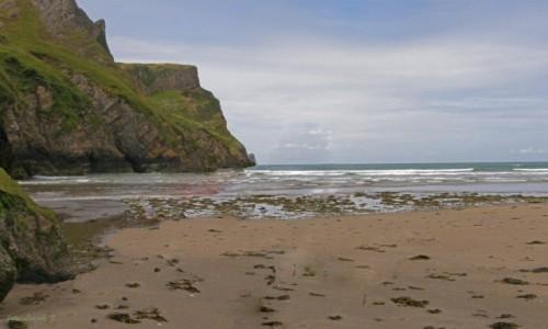 Zdjecie WALIA / Swansea. / Rhossili Bay. / Na plaży Rhossili.