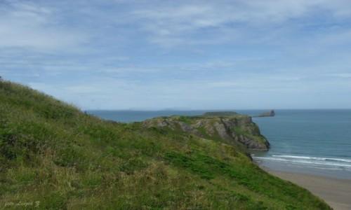 Zdjecie WALIA / Swansea. / Rhossili - Plaża / Rhossili - klify i