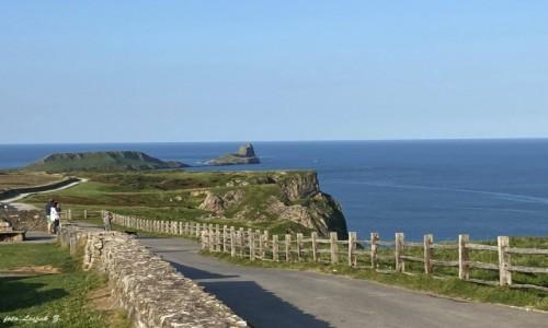 WALIA / Swansea. / Półwysep Gower. / Rhossili - najpiękniejsza plaża Walii.