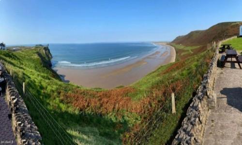 WALIA / Swansea. / Rhossili Bay. / Rhossili - Najpiękniejsza plaża Walii.