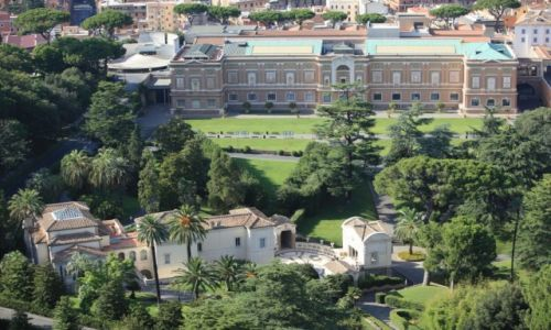 Zdjęcie WATYKAN / Lacjum / Widok z kopuły Bazyliki Watykańskiej / Ogrody Watykańskie