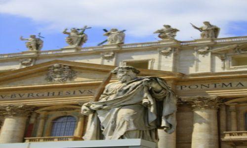 Zdjęcie WATYKAN / Rzym / Plac św Piotra / posąg św Piotra