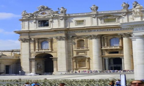 Zdjęcie WATYKAN / Rzym / Plac św Piotra / Bazylika św Piotra