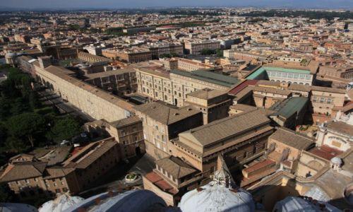 Zdjęcie WATYKAN / Bazylika św. Piotra / Widok z kopuły  / Muzea Watykańskie