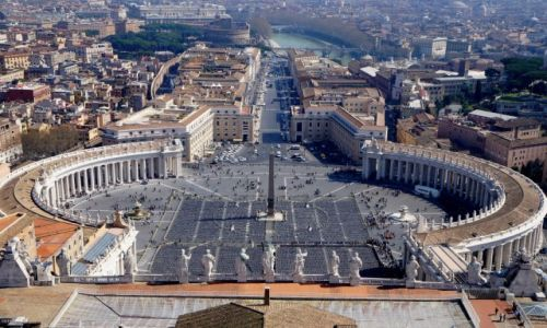 Zdjęcie WATYKAN / Watykan / Bazylika, widok z kopuły / Plac św. Piotra