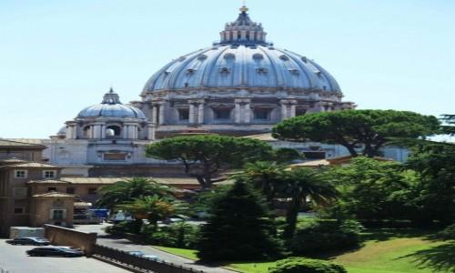 Zdjęcie WATYKAN / Lacjum / Widok z Muzeum Watykańskiego / Bazylika Św. Piotra