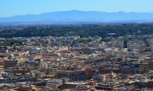 Zdjęcie WATYKAN / Lacjum / kopuła bazyliki św. Piotra / na dachu Rzymu