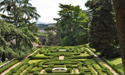 WATYKAN / Lazio / Rzym / Ogrody Watykańskie