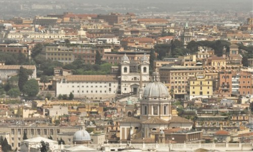 Zdjecie WATYKAN / Lazio / Watykan / Watykan, widok na Rzym