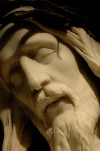Zdjęcia: budapeszt, figura Jezusa z Kościoła św.Macieja, WĘGRY