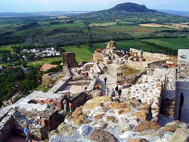 Zdjęcia: Zamek nieopodal Kasztely, Balaton południowy, średniowieczne ruiny, WĘGRY