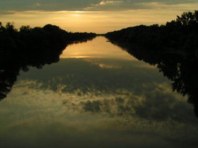 Zdjęcia: Mako, Nizina Węgierska, Zachód słońca na rzece Mures, WĘGRY