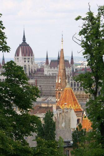 Zdj�cia: Budapeszt, dachy Budapesztu, W�GRY