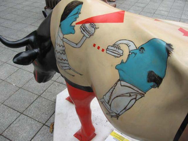 Zdj�cia: Budapeszt, cow parade in buda, W�GRY