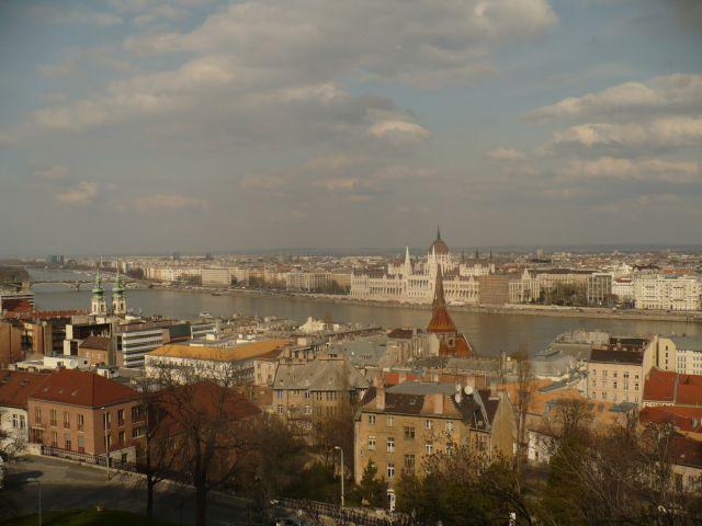 Zdj�cia: Wzg�rze Zamkowe, Budapeszt, Widok ze Wzg�rza Zamkowego, W�GRY