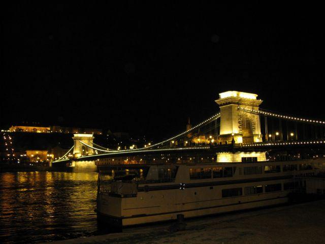 Zdjęcia: Most Elżbiety, Budapeszt, Most Elżbiety nocą, WĘGRY