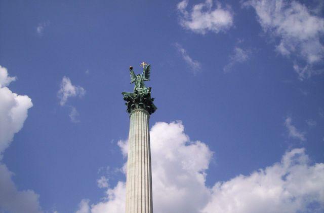 Zdjęcia: Budapeszt, Archanioł Gabriel/Pomnik Tysiąclecia/Plac Bohaterów, WĘGRY