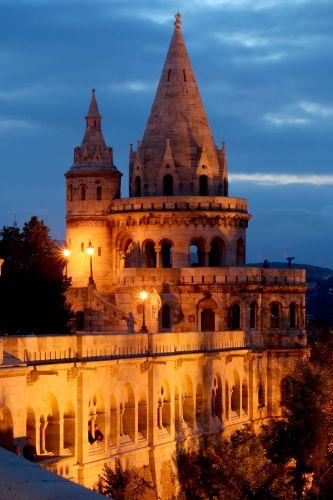 Zdjęcia: Budapeszt, Budapeszt, Baszta Rybacka by night 1, WĘGRY
