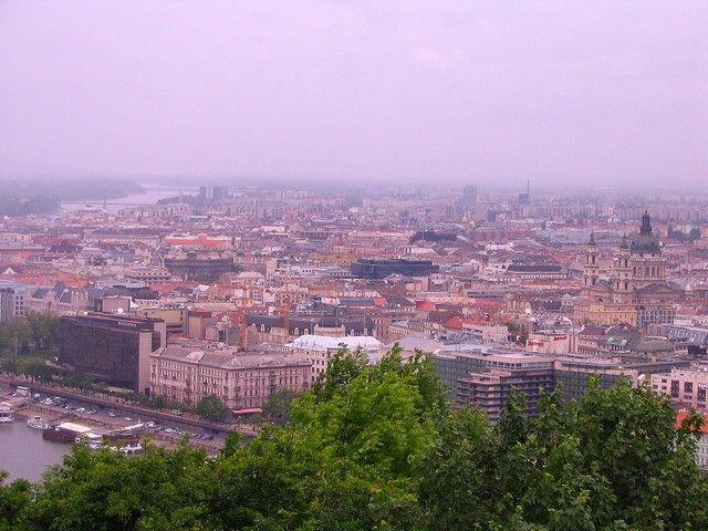 Zdjęcia: Budapeszt , Widok ze Wzgórza Gellerta, WĘGRY