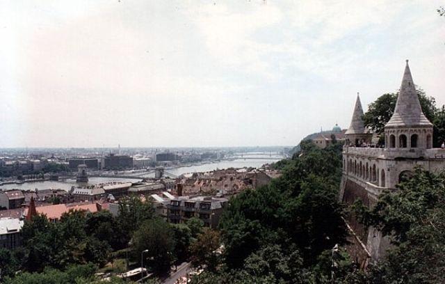 Zdjęcia: BUDAPESZT, Z wzgórza zamkowego., WĘGRY