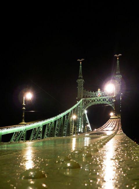 Zdjęcia: Budapeszt, mosty  nocą, WĘGRY