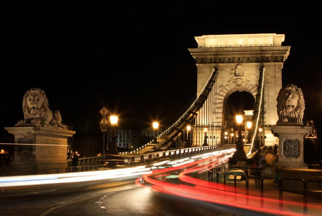 Zdjęcia: Most Lancuchowy, Budapeszt, Budapeszt nocą (1), WĘGRY