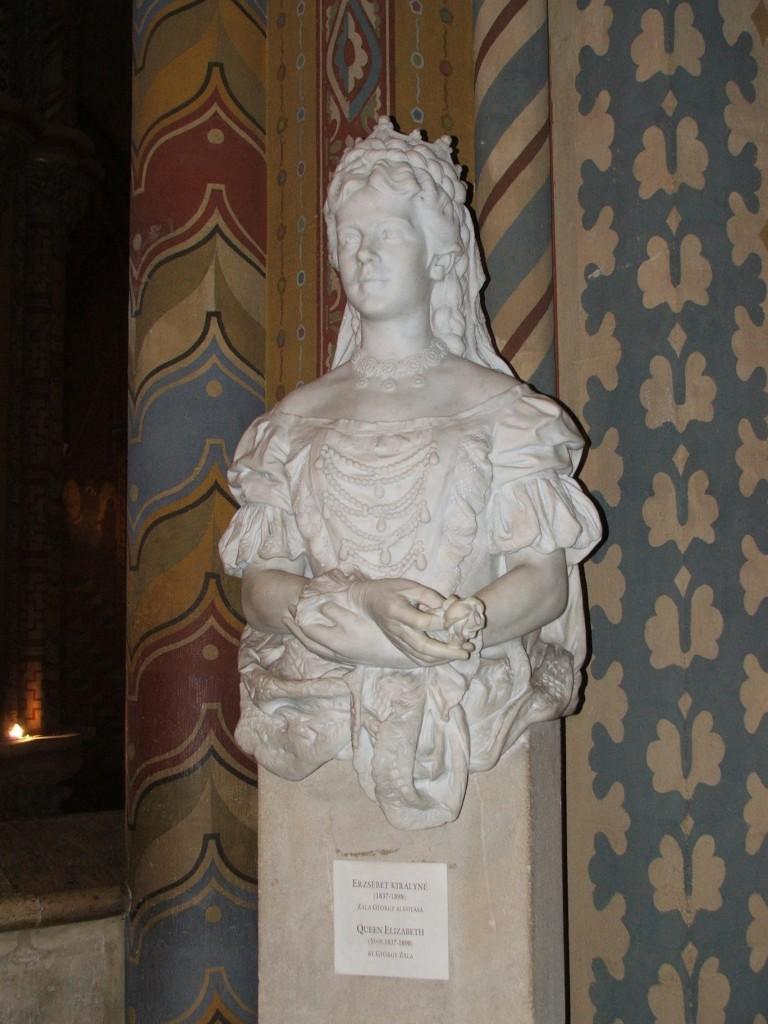 Zdjęcia: Budapeszt, Popiersie królowej Węgier, WĘGRY