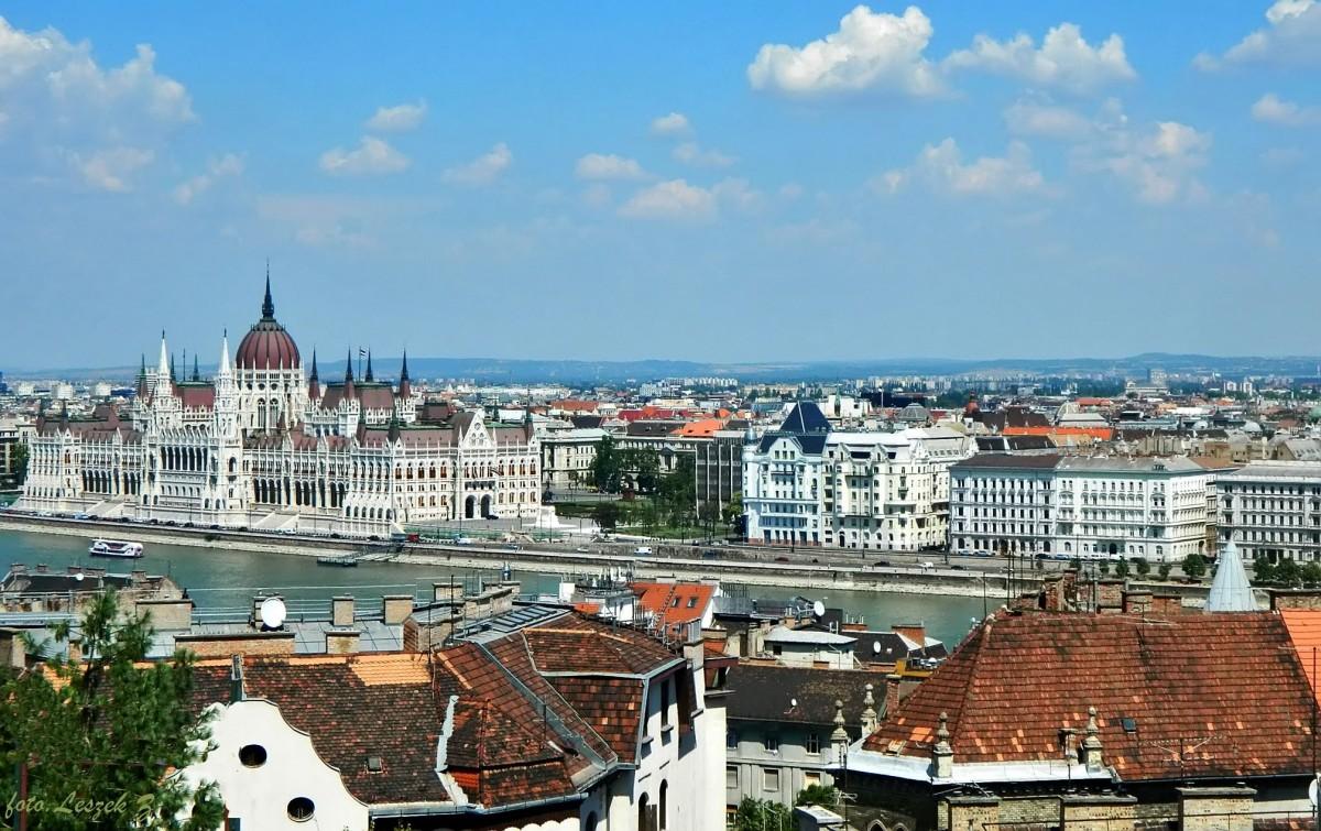 Zdjęcia: Góra Gellerta., Budapeszt., Budapeszt z Góry Gellerta 1, WĘGRY