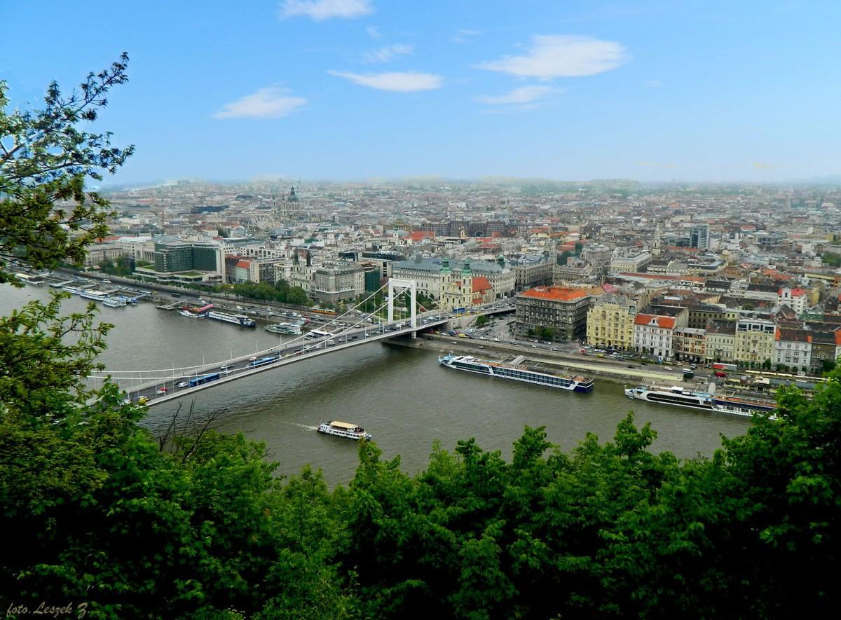 Zdjęcia: Góra Gellerta., Budapeszt., Budapeszt z Góry Gellerta 3., WĘGRY