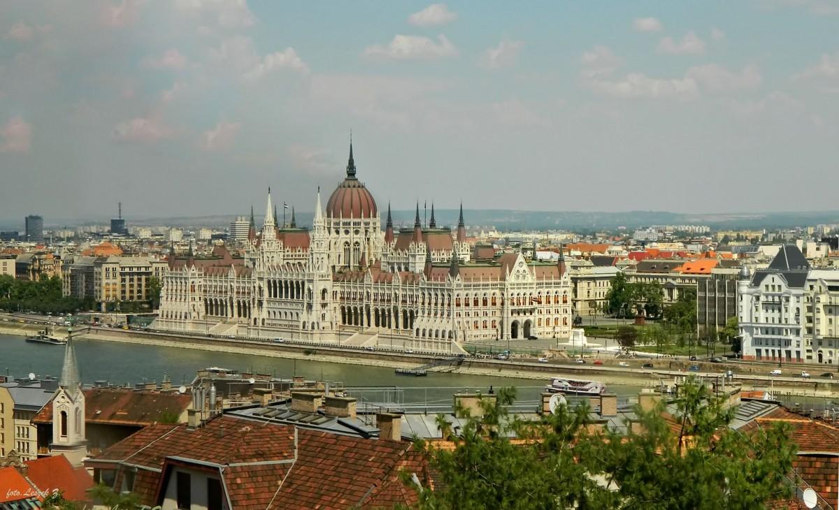 Zdjęcia: Góra Gellerta., Budapeszt , Budapeszt z Góry Gellert - Panorama., WĘGRY