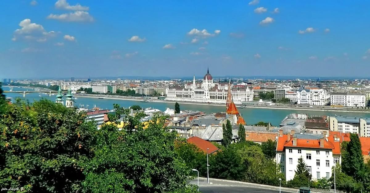 Zdjęcia: Budapeszt., Węgry., Budapeszt z Rybackiej Baszty., WĘGRY