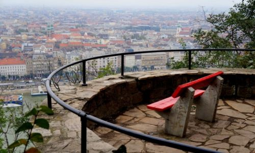 Zdjęcie WĘGRY / Budapeszt / wzgórze Gellerta / Balkon