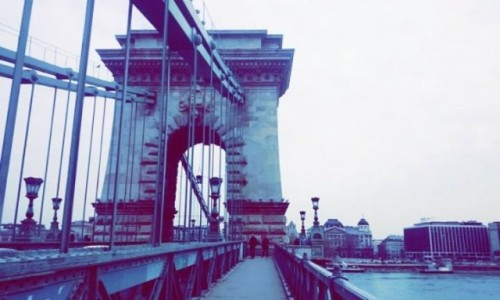 WĘGRY / Budapeszt / Széchenyi Lánchíd / Most Łańcuchowy