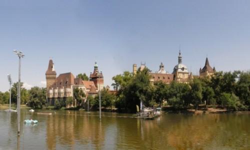 Zdjecie WĘGRY / Budapeszt. /  Zamek Vajdahunyad. / Budapeszt - Zamek Vajdahunyad.(panorama)