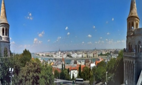 Zdjecie WĘGRY / Budapeszt. / Baszta Rybacka. / Budapeszt - Panorama z Baszty Rybackiej.