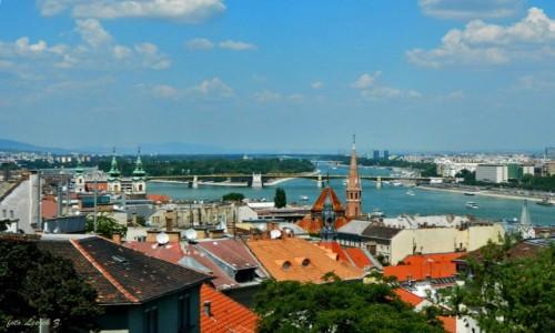 Zdjęcie WĘGRY / Budapeszt. / Góra Gellerta. / Budapeszt - Wyspa Małgorzaty na Dunaju.