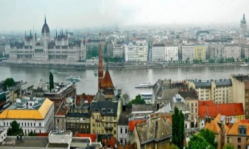 Zdjecie WĘGRY / Stolica Węgier. / Budapeszt. / Budapesze - widok z góry Gellerta.
