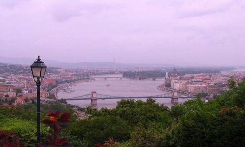 WĘGRY / - / Budapeszt  / Widok ze Wzgórza Gellerta